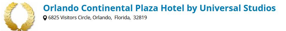 Orlando Continental Plaza Hotel International Drive near Universal Studios, Seaworld